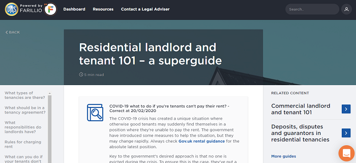 Residential landlord guide